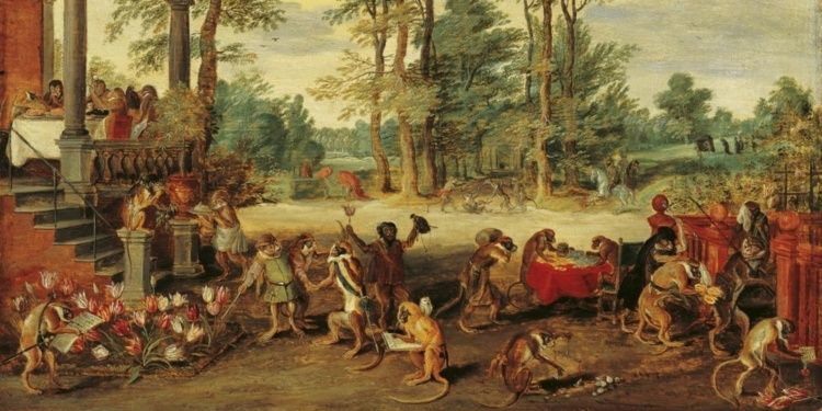 Satire on Tulip Mania, c. 1640, Jan Brueghel the Younger, Wikimedia Commons, File: Satire on Tulip Mania, c. 1640.jpg