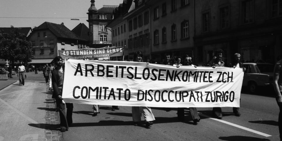 Gewerkschaftsdemonstration, Olten, 8.5.1976, Schweizerisches Sozialarchiv, F 5069-Na-004-028